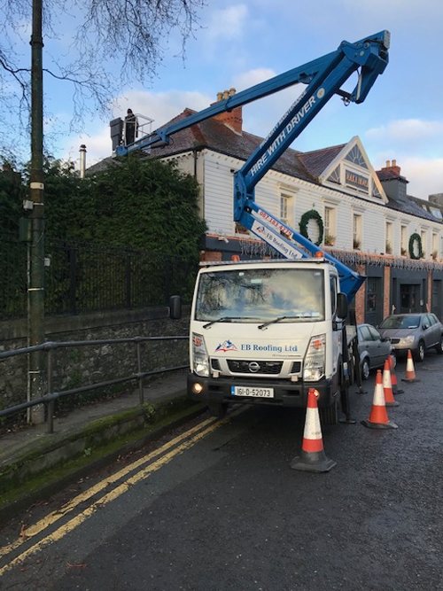 Hire cherry picker with driver in Dublin