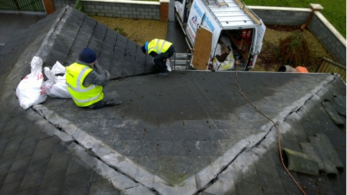 Roof repair project - Dublin January 30th, 2017